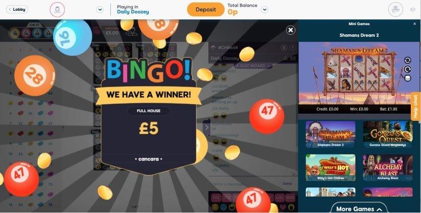 75 ball bingo  Winner- Pink ribbon Bingo