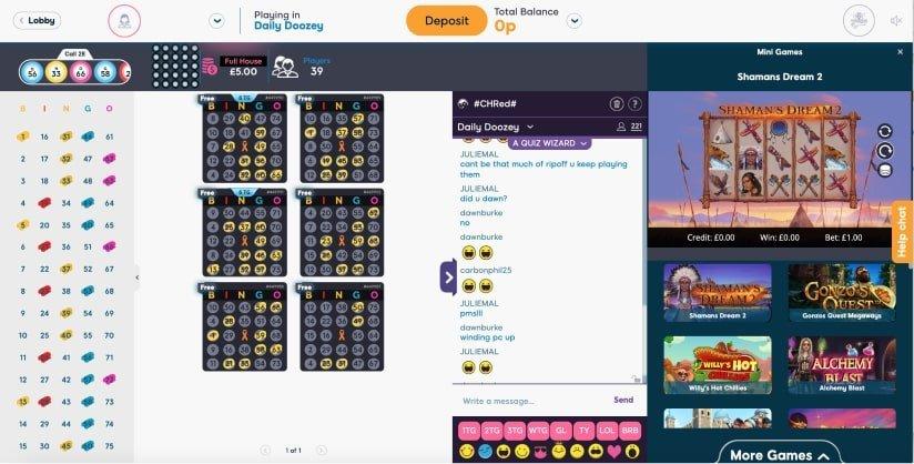 75 ball bingo  lobby- Pink ribbon Bingo