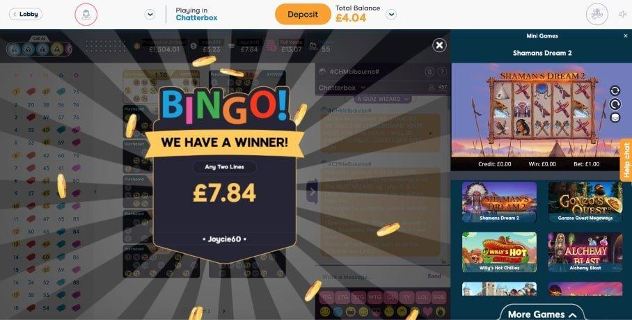 90 ball bingo winner - pink ribbon bingo