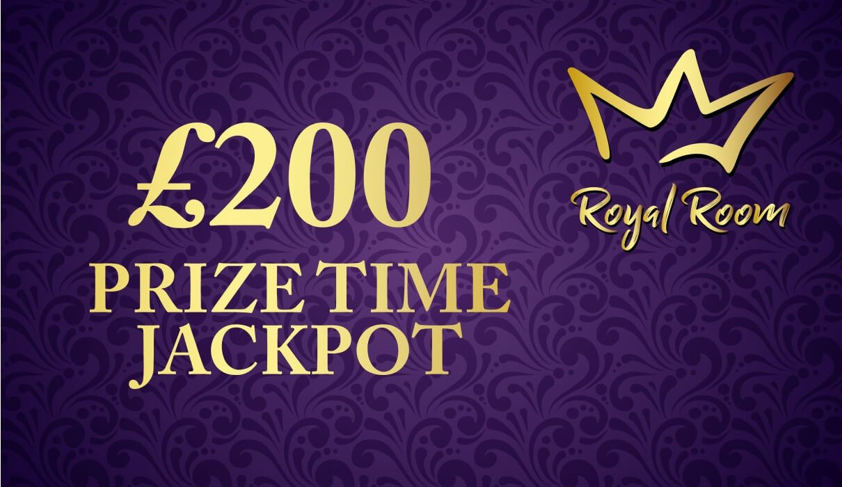 On the last day of every month, you can win a share of £200 in our exclusive £200 Prize Time game which you will find under Royal Room.