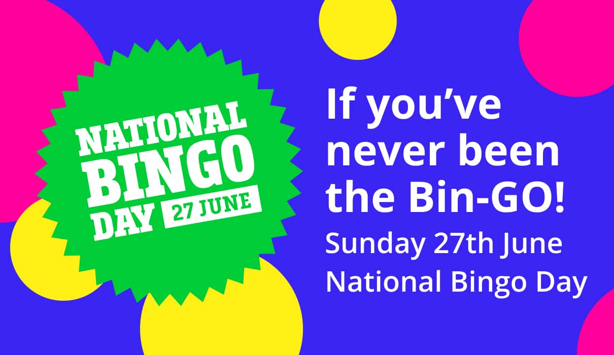 Take part in our National Bingo Day Bingo Tournaments to be in with a chance of winning a share of £/$/€10,000 – no wagering.