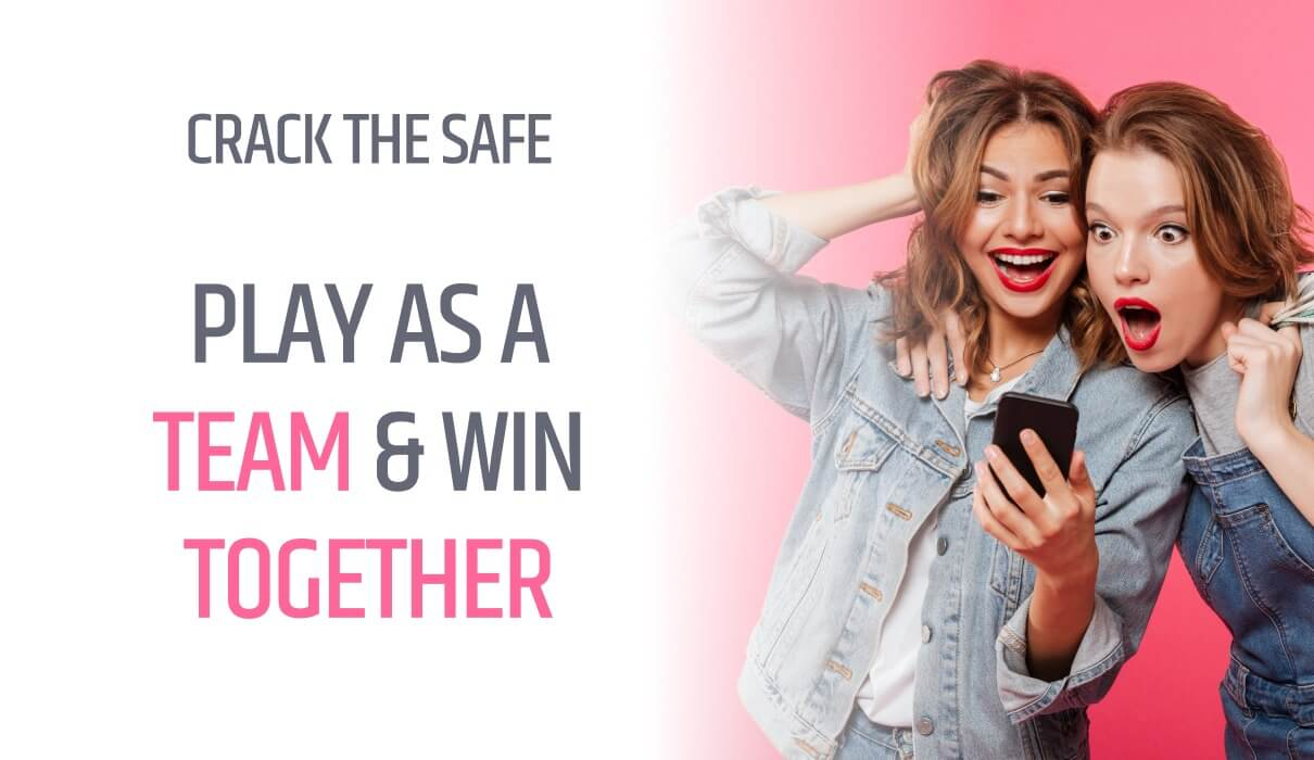Crack the safe as a team! In there, you will find £1,000 in Games Bonus as well as 1,000 Free Spins, Amazon Echo, one Apple Watch and a Bean To Coffee Machine.